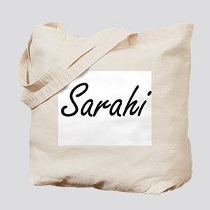 Sarahi artistic Name Design Tote Bag
